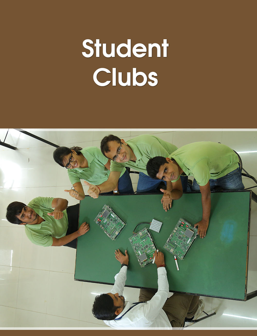 there are various kind of studnent clubs in the marwadi university