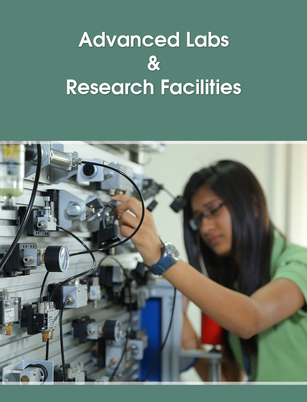 advanced lab and research facilities in top university of gujarat