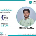 ABHI ASHVINBHAI KANSAGRA got placed at TSS Consultancy at the package of 3.6 LPA.
