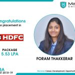 FORAM BHARATBHAI THAKKERAR got placed at HDFC Ltd. at the package of 5.53 LPA.