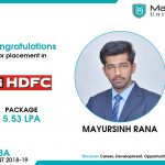 MAYURSINH PARAKRAMSINH RANA got placed at HDFC Ltd. at the package of 5.53 LPA.
