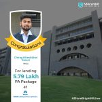 CHIRAG HITESHBHAI VASANI got placed at TATA CONSULTANCY SERVICES at the package of 5.79 LPA.