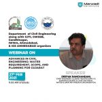 webinar on the topic- Advances in Civil Engineering: Water Requirements, Scope and Planning for Gujarat