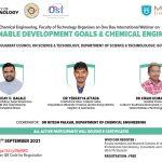 Webinar on Sustainable Development Goals & Chemical Engineering